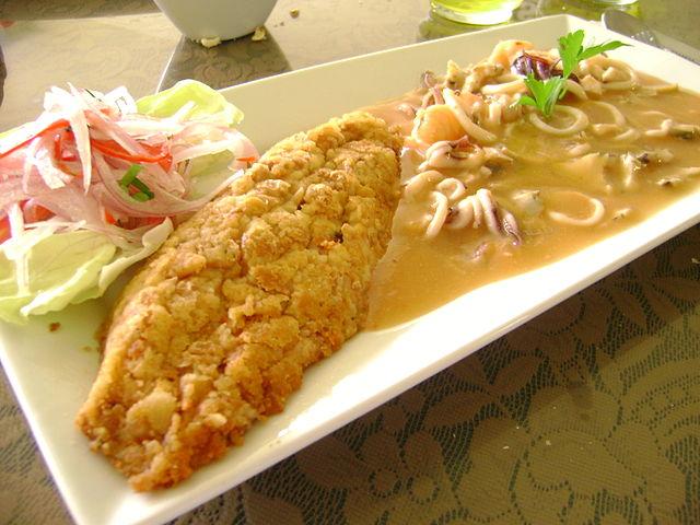 u tacu au salsa de mariscos séjour Culinaire Pérou